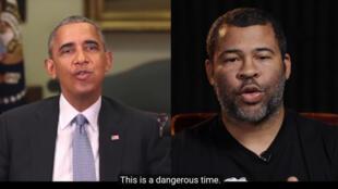 Barack Obama y su falso discurso, pronunciado en realidad por el actor Jordan Peele.