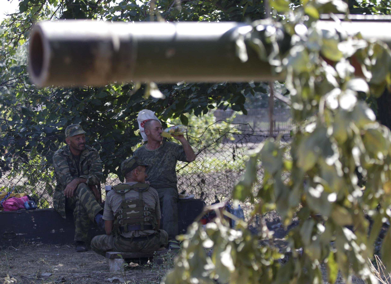 Quân nổi dậy thân Nga tại thị trấn Novoazovsk, vùng duyên hải phía nam Ukraina, ngày 31/08/2014.
