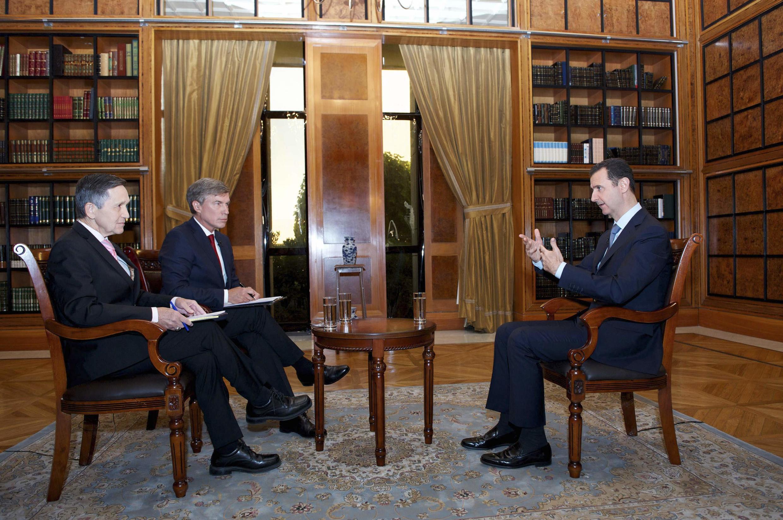 """بشاراسد، رئیس جمهوری سوریه، در گفت وگوی خبری با تلویزیون """" فُوکس نیوز"""" آمریکا"""