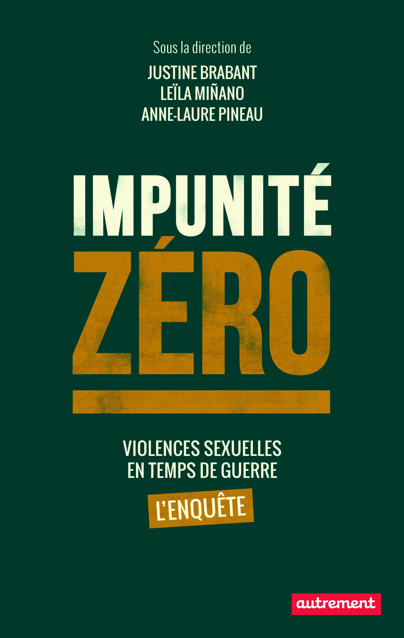 Impunité zéro est la version livre d'un projet transmédia sur les violences sexuelles en temps de guerre et leurs suites judiciaires.