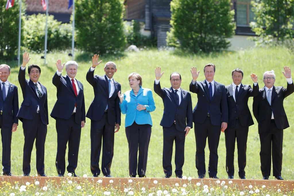 Lãnh đạo các nước G7 trong một thượng đỉnh tại Đức, năm 2015.