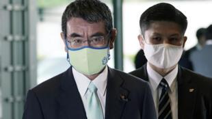 Le ministre japonais de la Réforme administrative Taro Kono à Tokyo le 16 septembre 2020.