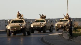 Tripoli: patrouille de sécurisation de la ville, le 8 avril 2013.