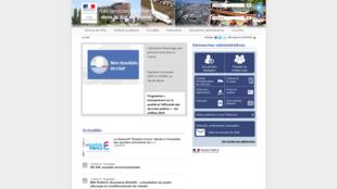 La page d'accueil du site de la préfecture du Val-de-Marne.