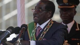El presidente de Zimbabue Robert Mugabe.