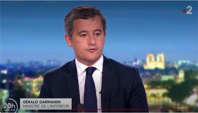 جرالد دارمانین، وزیر کشور فرانسه