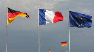 پرچم های اتحادیه اروپا، فرانسه و آلمان
