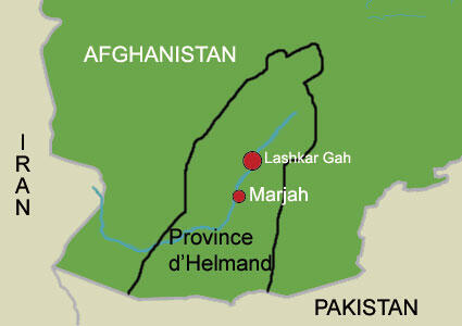 La province d'Helmand, au sud de l'Afghanistan.
