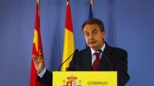 O chefe do governo espanhol, José Luiz Rodrigues Zapatero