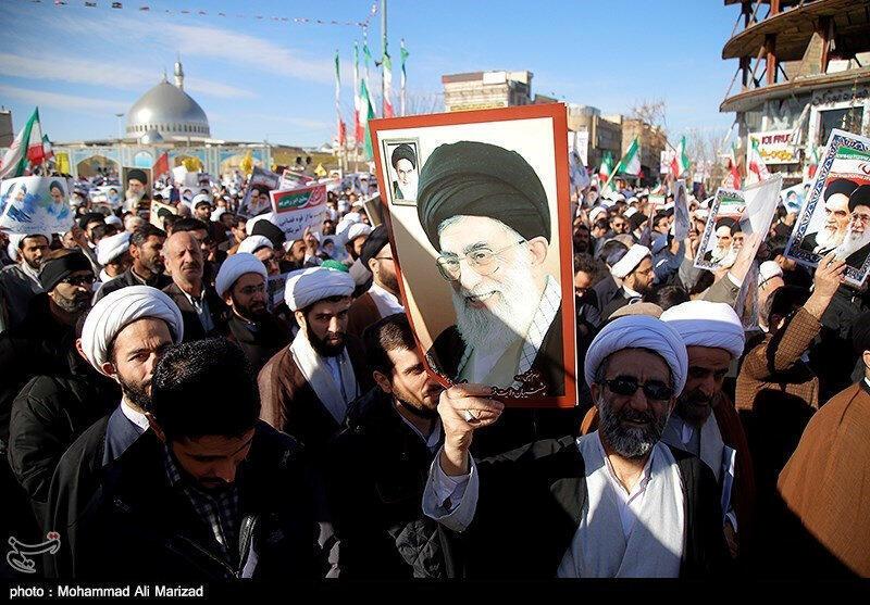 Manifestação de apoio ao regime do Irão, que tem sido contestado nas ruas desde 28 de dezembro