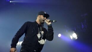 Le rappeur français « La Fouine » au Printemps de Bourges le 21 avril 2011.