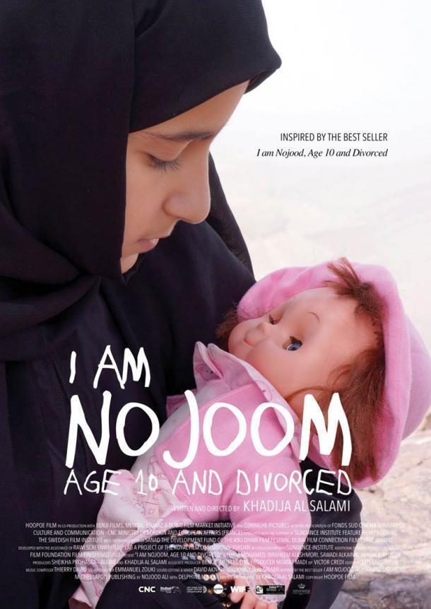 "Áp phích phim ""I am Nojoom, age 10 an divorced"" của đạo diễn Yemen Khadija Al Salami tranh giải Oscar 2017."