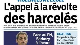 Capa do jornal francês Le Parisien desta terça-feira, 3 de fevereiro de 2015.