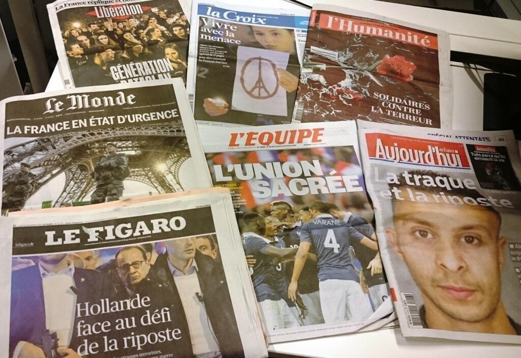 Diários franceses 16/11/2015