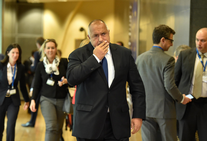 Le Premier ministre bulgare, Boyko Borissov, à Bruxelles le 24 juin 2018.
