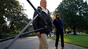 """""""Era um homem doente, demente, com muitos problemas"""", disse Trump aos jornalistas sobre Stephen Paddock, durante coletiva nesta terça-feira (3)."""
