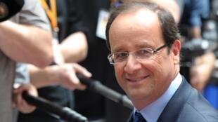 Президент Франции Франсуа Олланд прибывает в Брюссель на саммит  28/06/2012