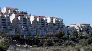 Vue générale montrant la colonie juive de Kiryat Arba à Hébron, en Cisjordanie sous occupation israélienne, le 19 novembre 2019 (image d'illustration).