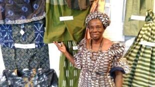 Victorine B. Kossou, responsable de l'association Espace Tissage plus à Abomey-Calavi.