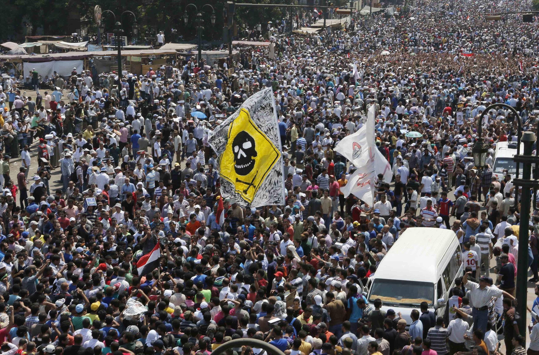 Демонстрация сторонников Мурси 16 августа 2013