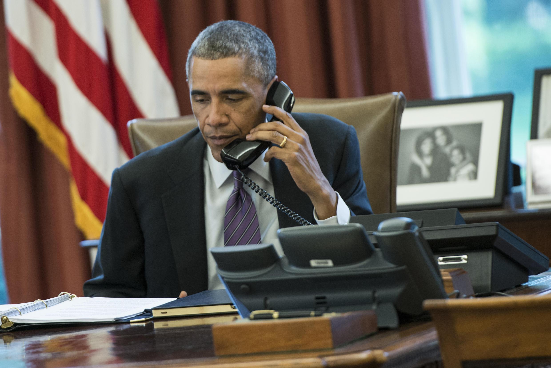 Tổng thống Mỹ Barack Obama tại Nhà Trắng, Washington DC, ngày 08/10/2014