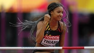 Nafi Thiam claimed her first world championship title in London.