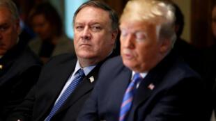 Donald Trump a annulé la visite de son secrétaire d'Etat Mike Pompeo en Corée du Nord, reprochant le manque d'implication de Pékin dans le processus de dénucléarisation.