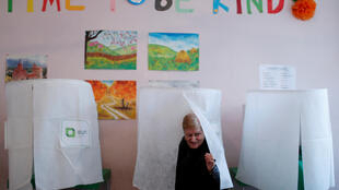 Избирательный участок в Тбилиси 28 октября 2018