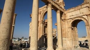 Thành phố cổ Palmyra vào năm 2010.