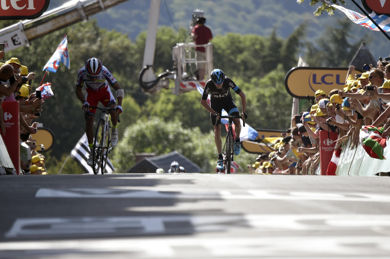Le mur de Huy, haut-lieu du cyclisme belge.