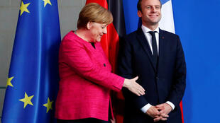 German Chancellor Angela Merkel and French President Emmanuel Macron in Berlin