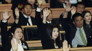 Yingluck Shinawatra in parliament