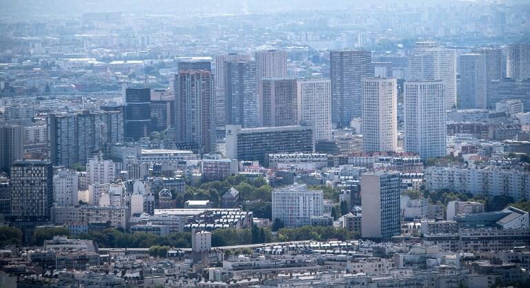 Quận 13 Paris nhìn từ tháp Montparnasse, ngày 6/8/2018.