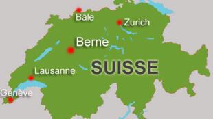 Carte de la Suisse.