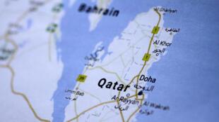 圖為卡塔爾及海灣地區地圖