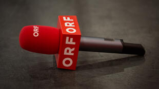 Microfone da TV austríaca ORF. Foto ilustração