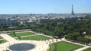 Le jardin des Tuileries à Paris.
