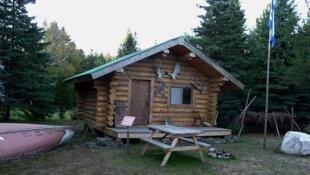 une maison d'Amérindiens à Shawinigan au Québec.