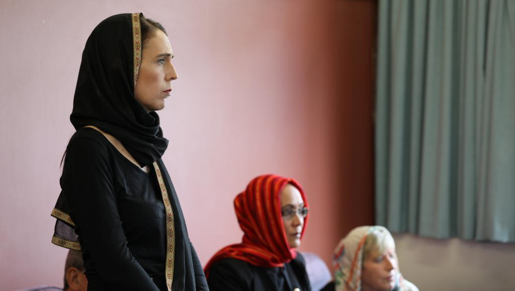 New Zealand Prime Minister Jacinda Ardern speaks to representatives of the Muslim community at Canterbury refugee centre in Christchurch, New Zealand March 16, 2019.