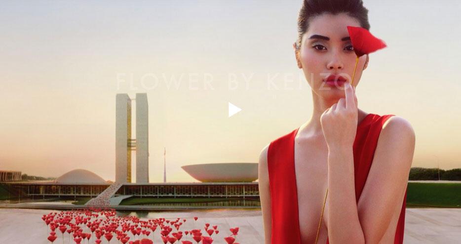 Brasília é o cenário da nova propaganda internacional do perfume da marca Kenzo,