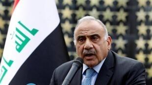 Thủ tướng Irak, ông Adel Abdel Mahdi, tại Bagdad ngày 23/10/2019.