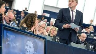 Le Parlement européen a honoré ce mardi 4 juillet, la mémoire de Simone Veil, sa première présidente élue de 1979 à 1982.
