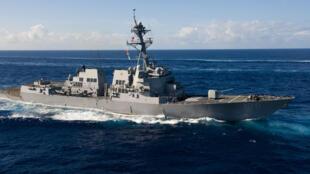 Khu trục hạm USS Wayne E.Meyer của Mỹ trên Thái Bình Dương.