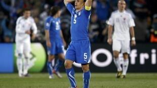 O capitão da seleção italiana, Fabio Cannavaro.