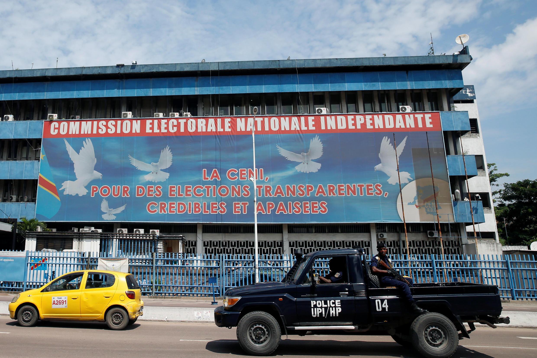 Le siège de la Céni, la Commission électorale, à Kinshasa, en RDC, le 9 janvier 2019.