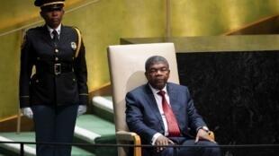 Presidente angolano, João Lourenço, na Assembleia Geral da ONU em Nova Iorque a 24 de Setembro de 2019.