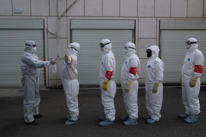 武漢 攝於 2020年2月22日  Epidémie de coronavirus, Wuhan, foyer de la maladie, le 22 février 2020.