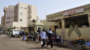 L'hopital Gabriel Touré de Bamako, au Mali.