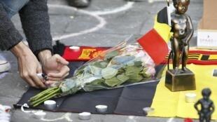 ادای احترام به قربانیان انفجارهای بروکسل