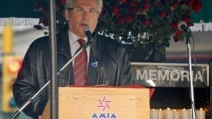 Buenos Aires, 16 de julio de 2010: el juez español Baltasar Garzón durante un acto en conmemoración de las víctimas del atentado perpetrado en julio de 1994 contra la AMIA.
